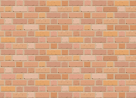 Brick wall. Red brick building seamless pattern. Vector illustration