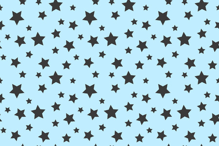 Good night pattern with stars for pajamas. Illustration. Vector illustration