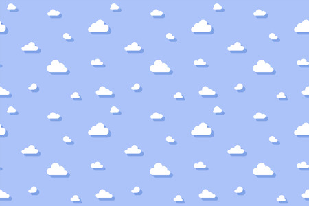 Cute clouds texture. Simple pattern. Vector illustration