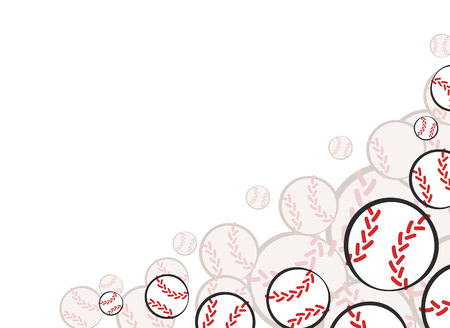 Bottom corner baseball sports game card decoration. Vector illustration template.