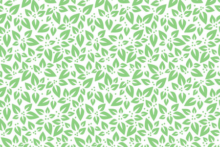 Floral seamless pattern. Vector. Leaves green and white Illustration