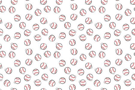 Baseball seamless pattern. Vector ornament. Print for textile. Illustration