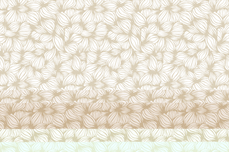 Floral seamless pattern. Vector. Leaves Beige and white