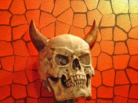 crack pipe: fake halloween skull