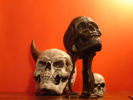 Fake halloween skull (5) Stock Photo - 339869