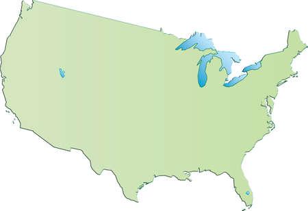 Mappa di Stati Uniti d'America
