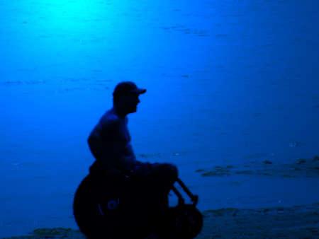 paraplegic: eenzaamheid op het strand