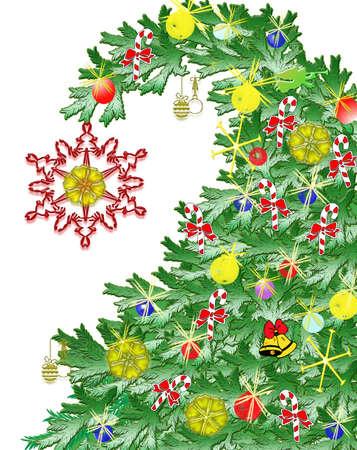 Tree Christmas isolated Фото со стока