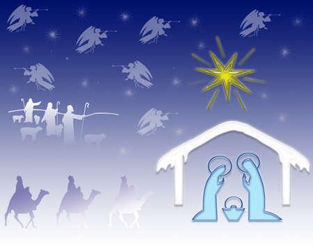 guarder�a: Natividad  Foto de archivo