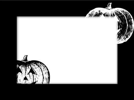 Black and white frame halloween photo
