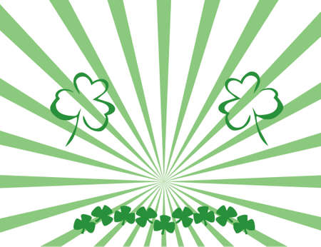 St Patrick day with fantasy background Vector