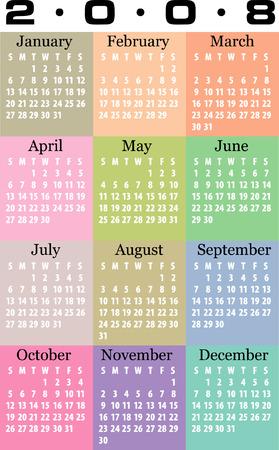 Calendar 2008 Vector.
