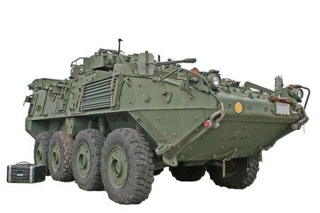Gepantserde voer tuig Canadese troepen gebruik in Afghanistan.  Stockfoto
