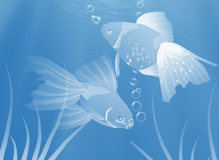 Fish underwater, Illustration. Stock fotó - 2200946