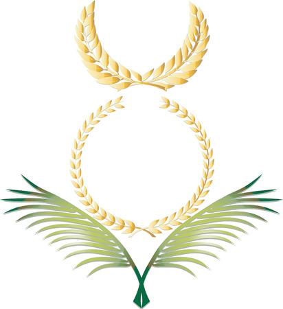 Three elegant antiquity decoration. Vector