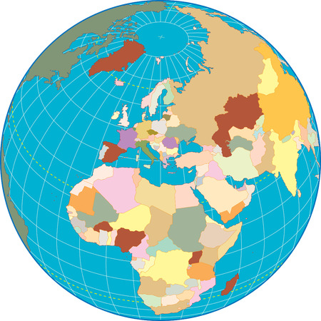 Europa globe Separate and use any country as you wish. Vectores