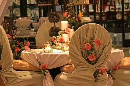 Bruiloft tabel.
