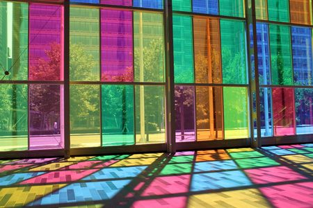 Interior of Palais des congres Montreal. To create a Palais open to the world, the architectural concept of the Palais focuses on the aspects of light and transparency. Imagens