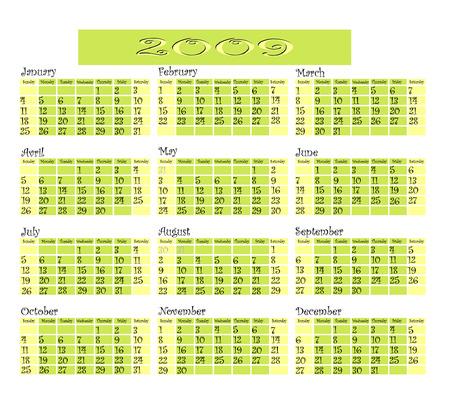 Calendar 2009.