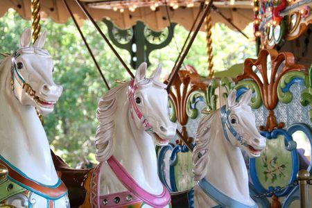 Horses auf ein Carousal.