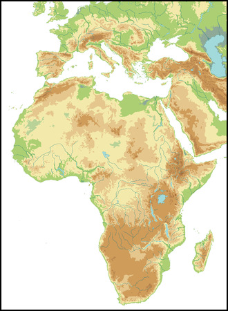 Linderung von Afrika. Standard-Bild - 3528477