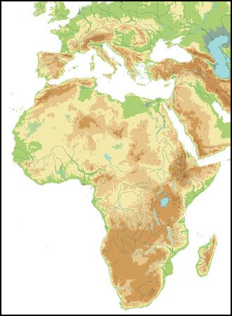 Relief Of Africa.