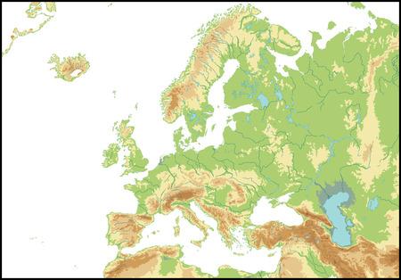 Reliëf van Europa