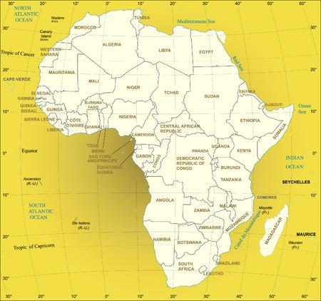 Africa Map. Vector