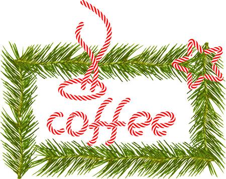 Koffie tijd tijdens Kerstmis.