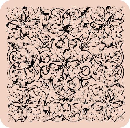 Vintage renaissance wallpaper. Ilustracja