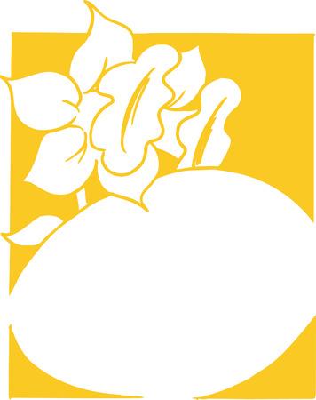 Flower and egg for easter. 向量圖像