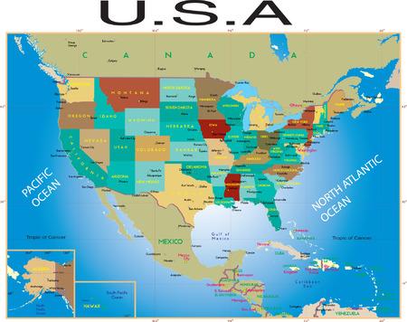 U. S. A. Map