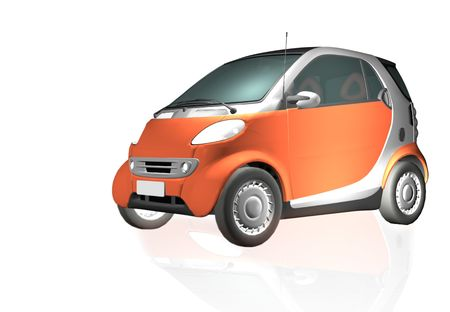 Economic car. Stockfoto