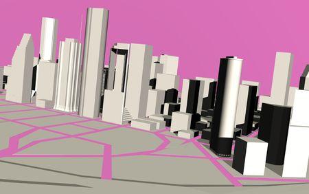 Urban modern town. 版權商用圖片