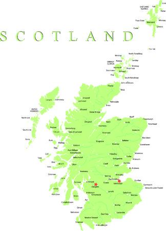 Schottland Karte Teil des Vereinigten Königreichs. Vektorgrafik