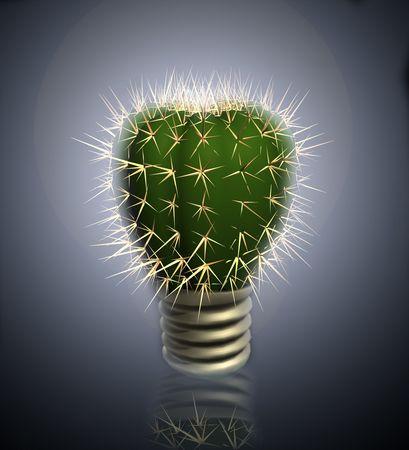 抽象的なサボテンの電球。