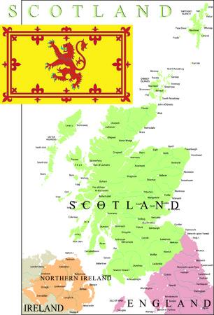 Scotland map part of the United Kingdom. Stock Illustratie