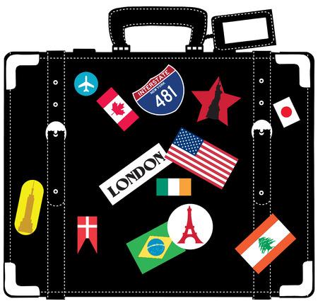 여행자를위한 가방. 일러스트