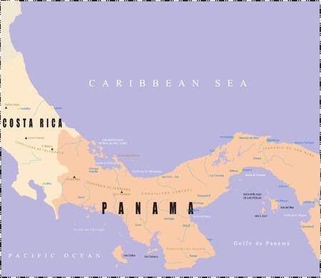 パナマ地図。  イラスト・ベクター素材