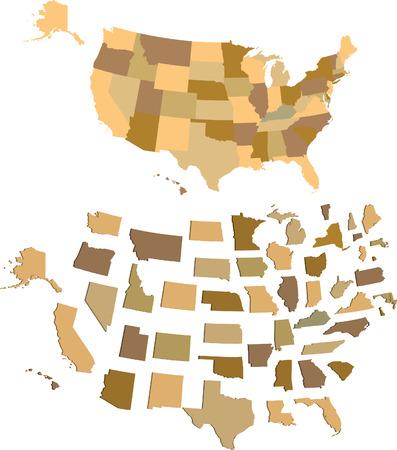 U S A map Stock Illustratie