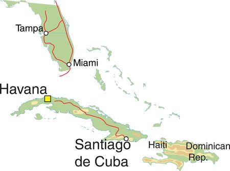 Cuba Map Ilustração