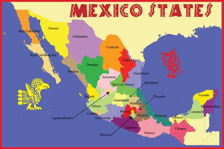 Mexico map. 向量圖像