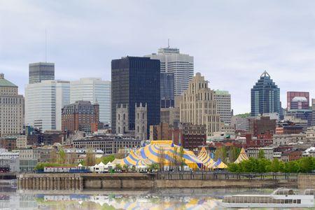 Montreal view of Jean Drapeau Park.