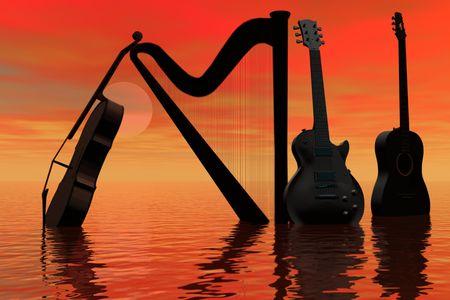 Music abstract. Reklamní fotografie