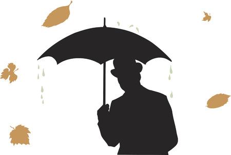 man under rain.