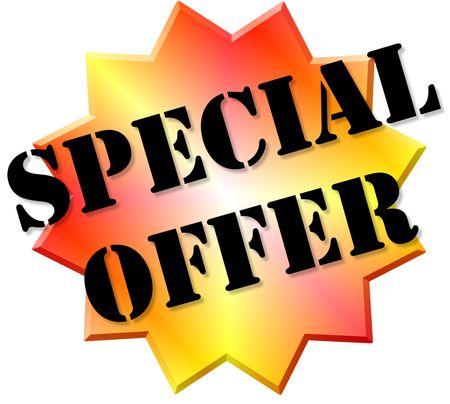 Special offer sticker.