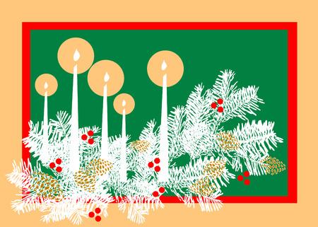 Christmas card. Ilustrace