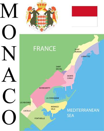 Monaco Map.