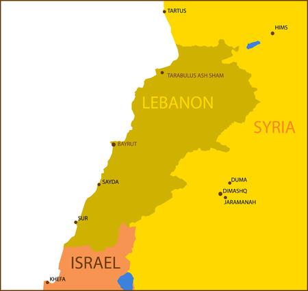 Mapa del Líbano.