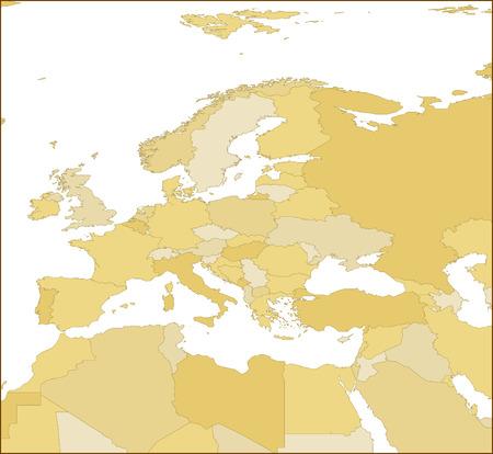 ヨーロッパの地図。